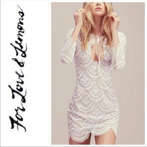 For Love and Lemons Rosalita dress- white